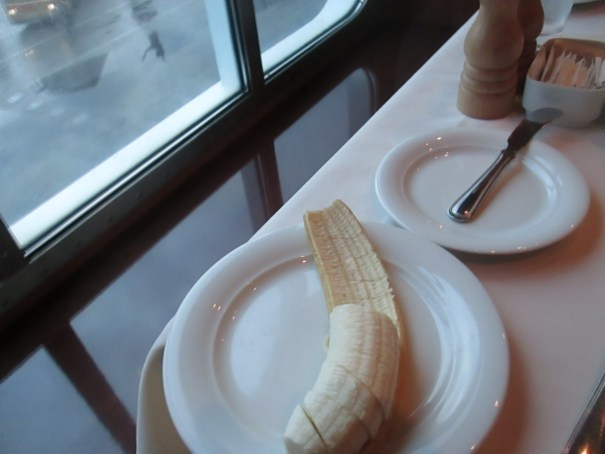 Edie never serves my banana's this way!