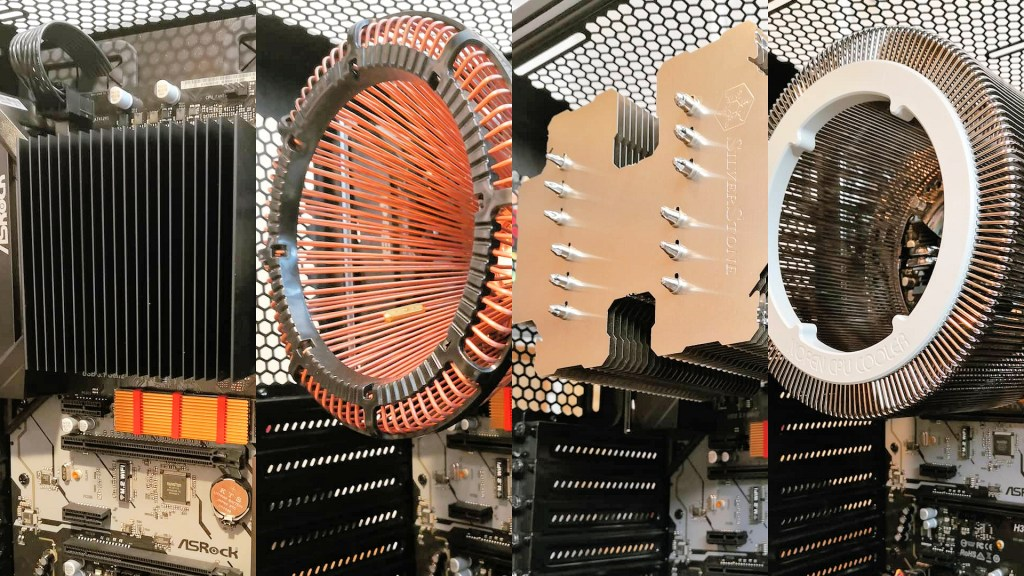 Fanless CPU Coolers Side by Side