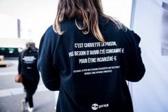 PARIS – 18 FEVRIER 2018: Des membres de GENEPI ont mené plusieurs actions dans les rues de Paris