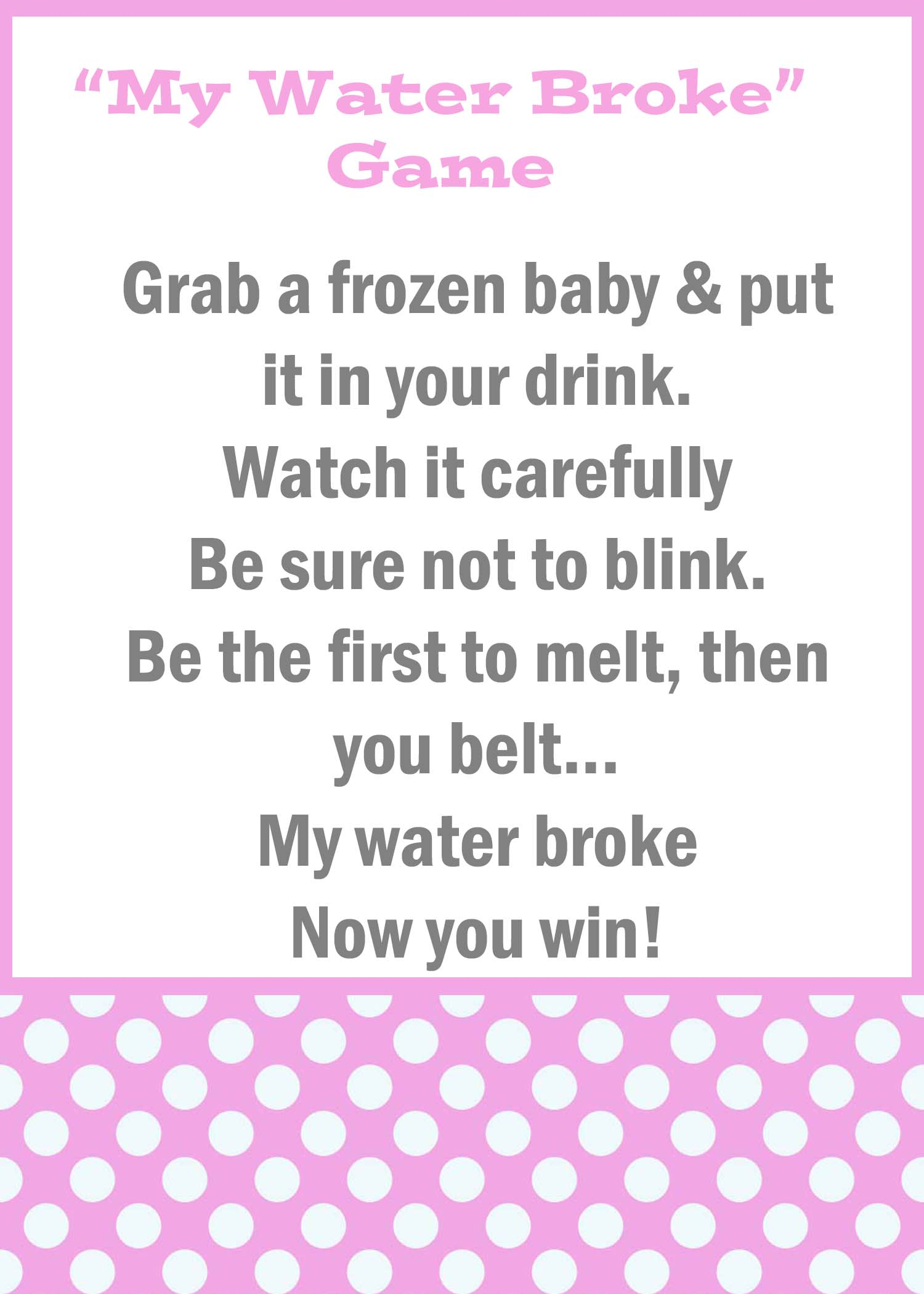 Baby Shower Trivia Game Printable
