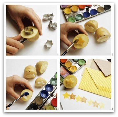 Easy Crafts For Kids 8 Potato Stamps And Potato Prints