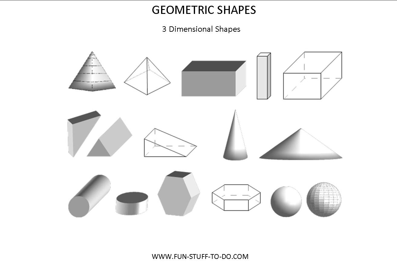 Worksheet 3 Dimensional Shapes Worksheets Worksheet Fun