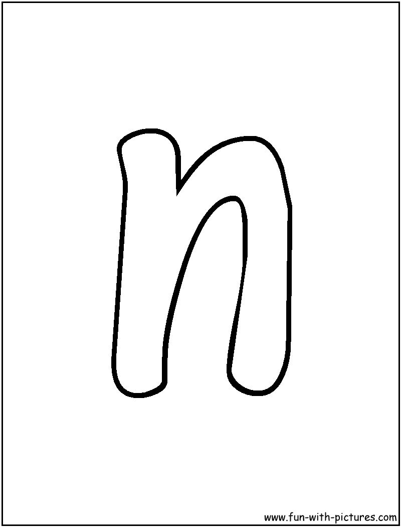 Worksheet Cursive Letter N free of coloring pages for letter n az bubble
