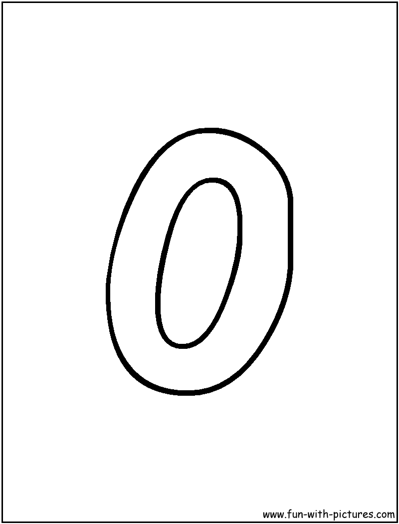 Bubble Letter O Coloring Page