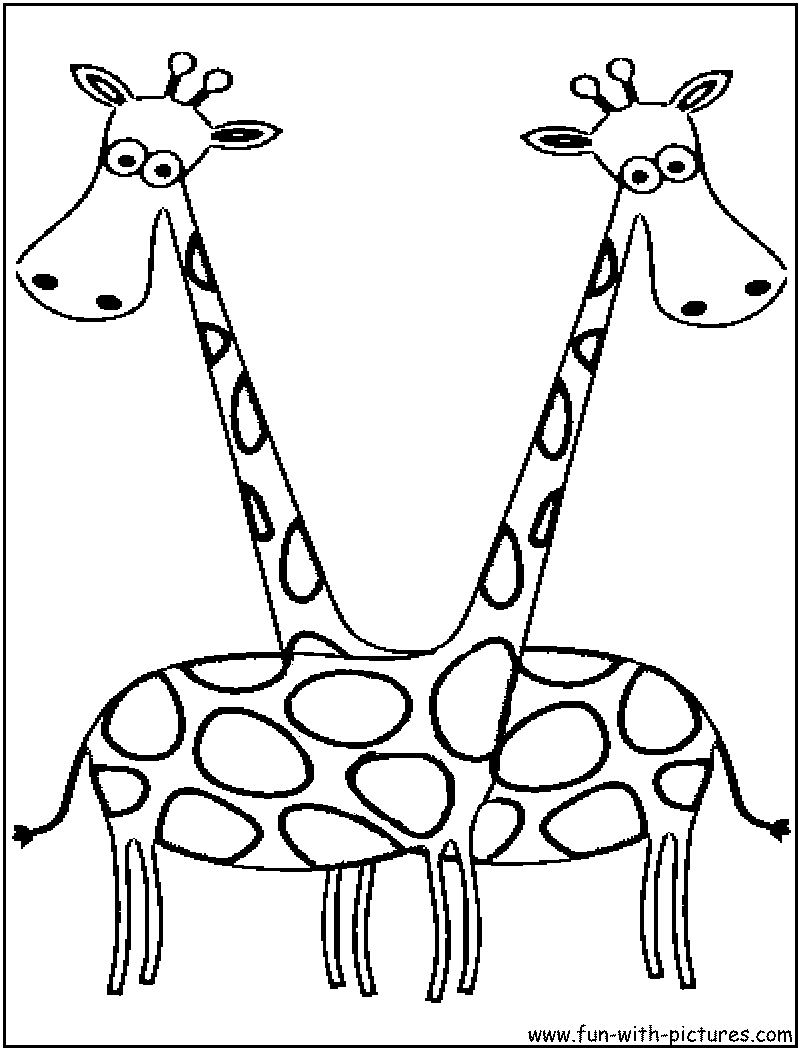 cartoon animal picture coloring page5 cartoon animals