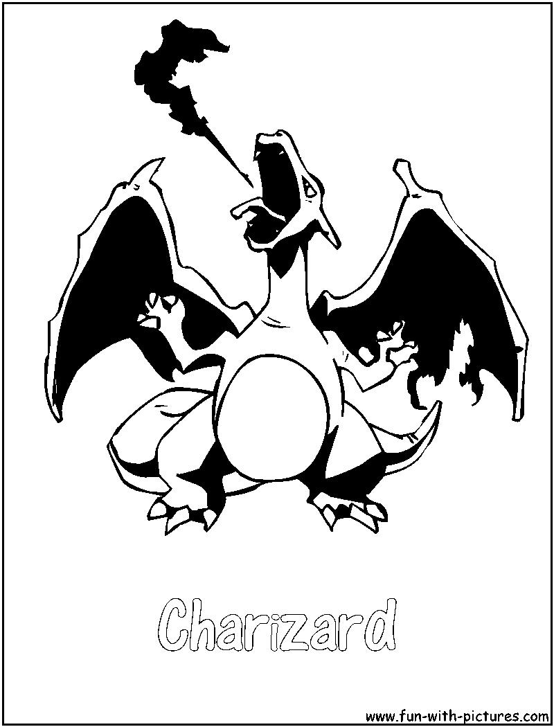 charizard coloring page png