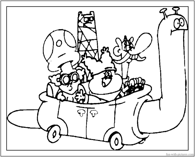 Chowder Characters Coloring Page