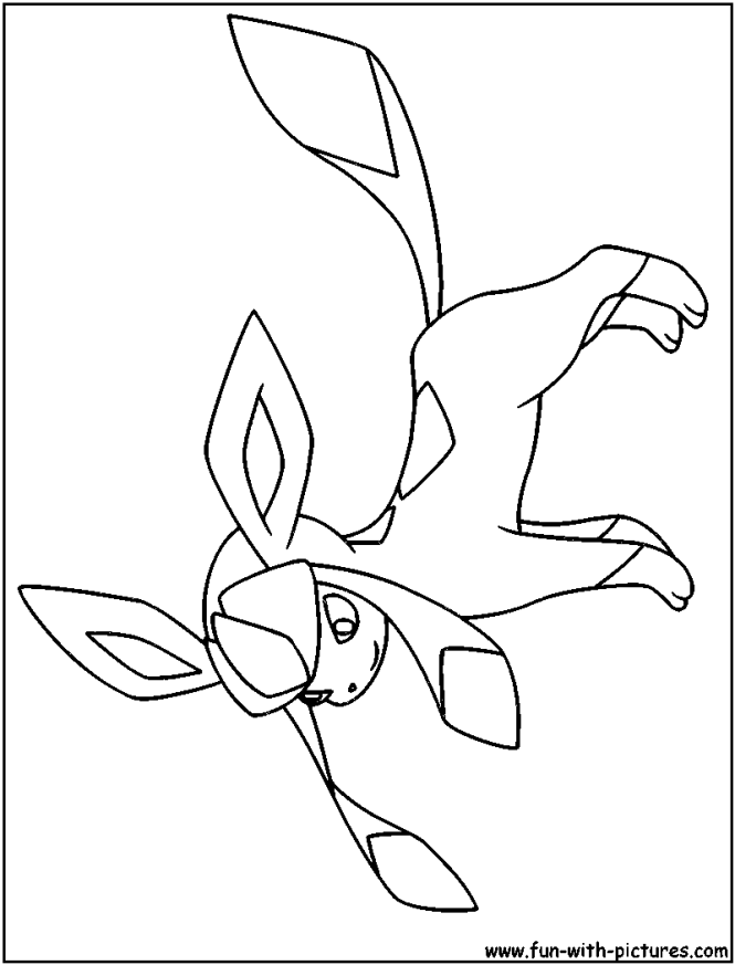 glaceon coloring pages | Coloring Page for kids