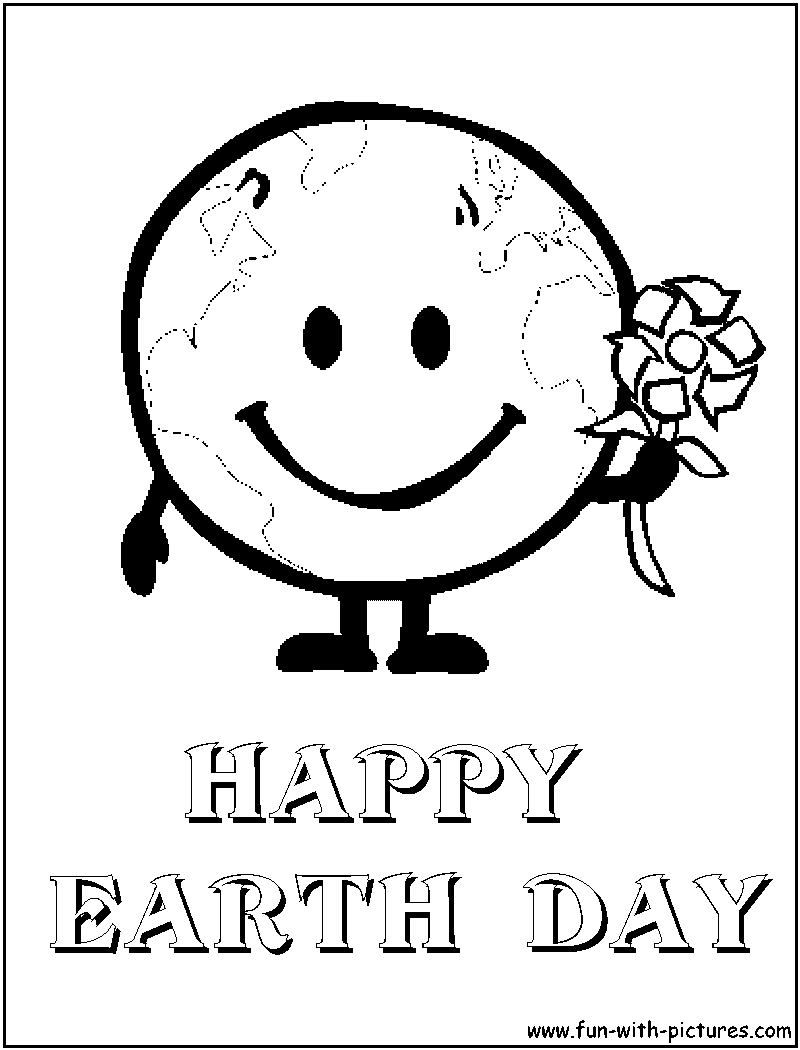 happy earth day coloring page png