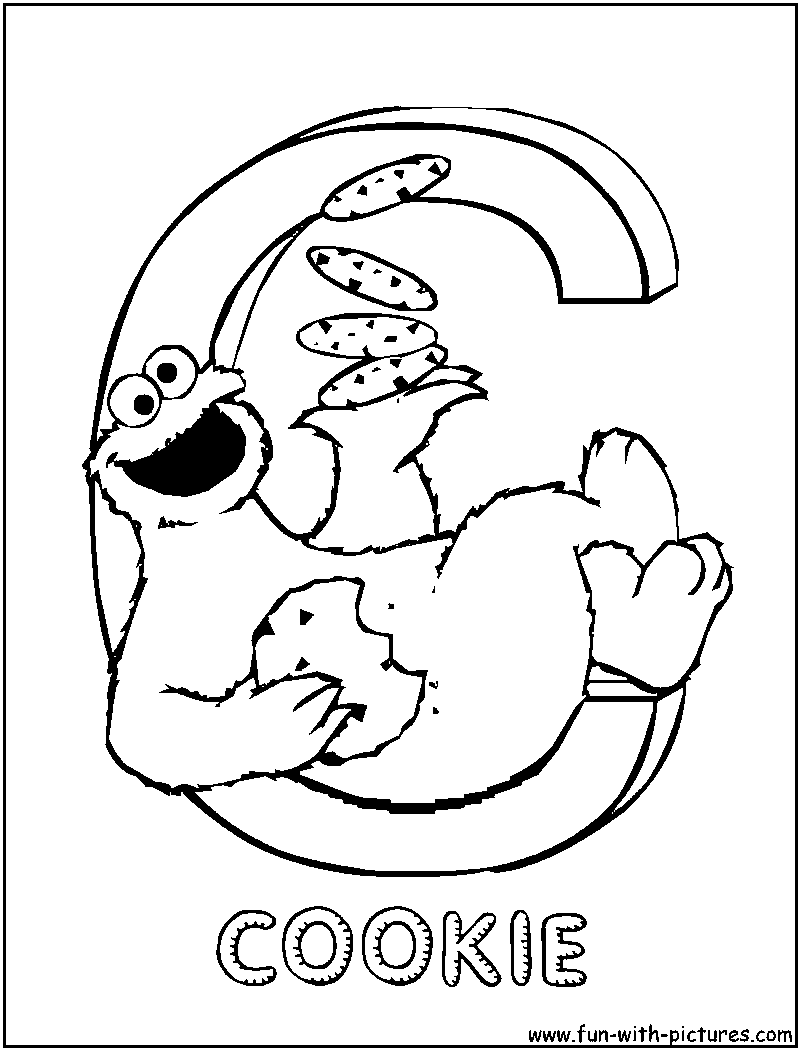 sesamestreet c coloring page