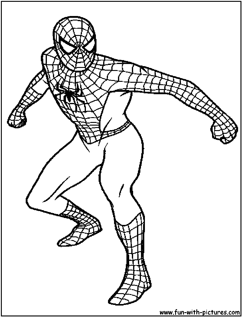 spiderman or foe colouring pages