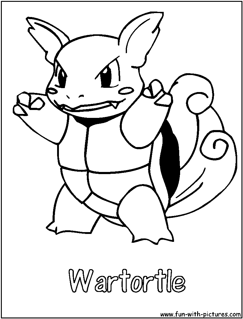 pics photos pokemon wartortle colouring pages