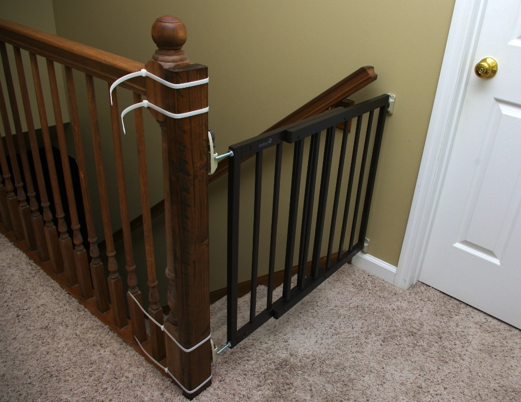 Top Of Stairs Baby Gate Fun And Functional Blog | Top Of Stairs Banister | High End | Indoor | Barn Beam | Redo | Glass