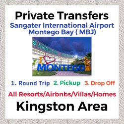 Private Transfer From Sangster International Airport Montego Bay to All Resorts, Villas, AirBnbs & Homes in Kingston Area