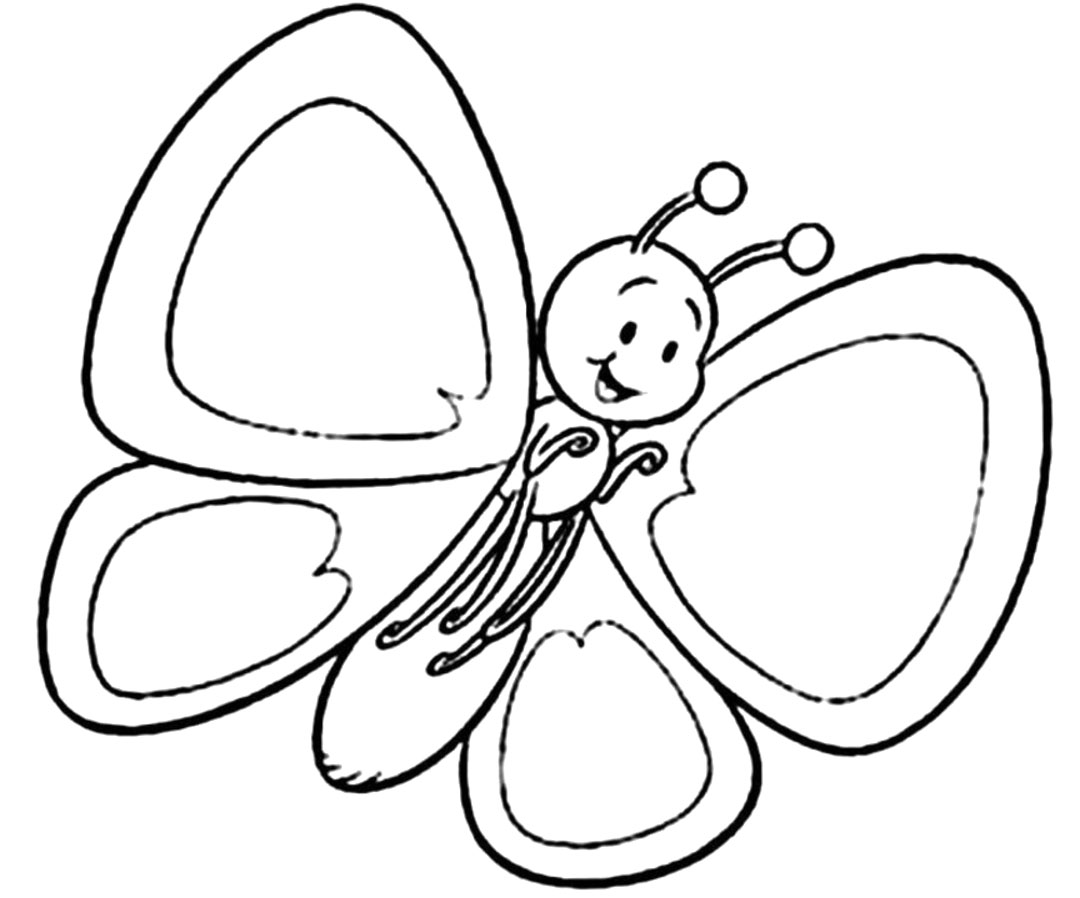 baby butterfly coloring sheet coloring pages