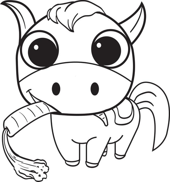 cartoon horse coloring pages on cartoon baby horse coloring pages