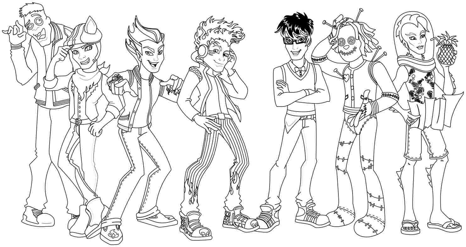 coloring pages monster high dolls simonschoolblogcom awesome