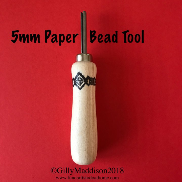 European style paper bead making tool