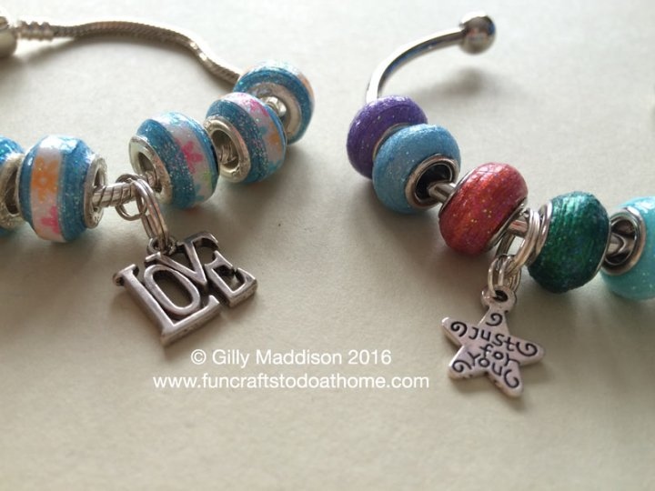 european style paper beads