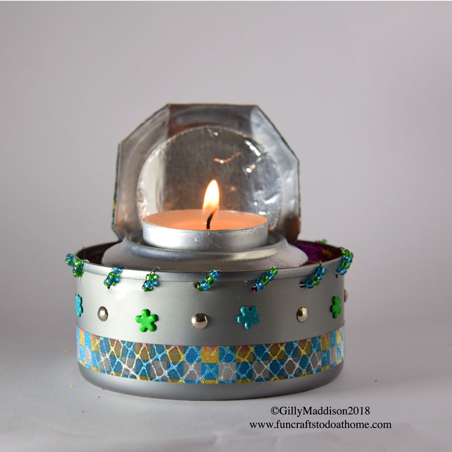 Metal Recycling – Make A Cool Candle Holder From Tuna and Pop Cans!