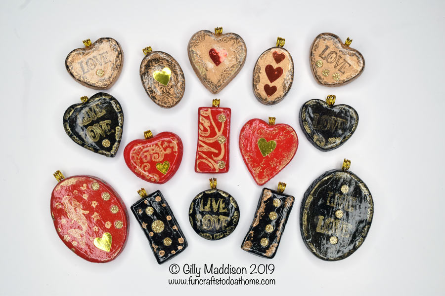 Easy To Make Pendants – Great For Older Children To Make – With Help!