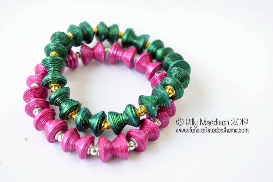 Fancy Paper Beads In the Diablo Shape