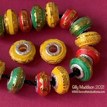 European style paper beads template