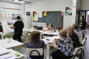 Fundação Cultural e Asfuc promovem formação para os professores de artes visuais   Foto: Tiago Amado