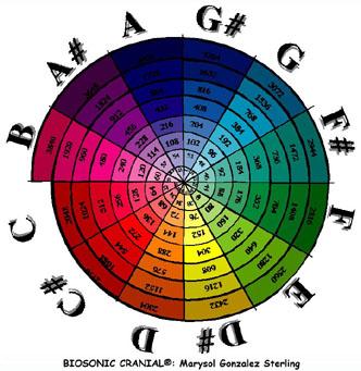 Espiral notes freqüències