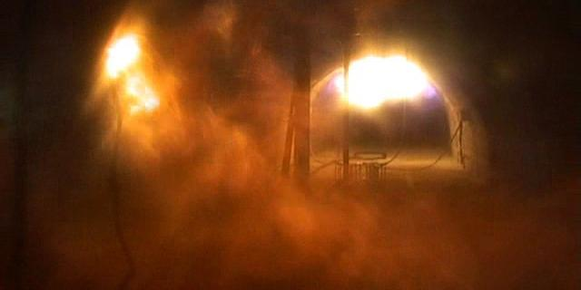 Ensayos de transmisión de explosiones de metano (grisú)