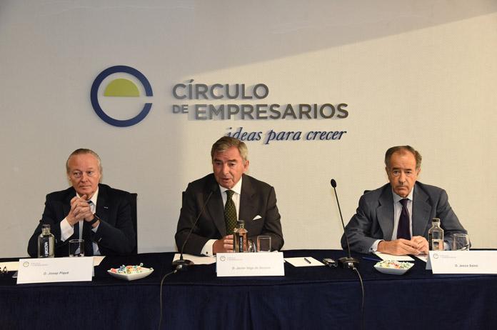 De izq. a dcha. Josep Piqué, Javier Vega de Seoane y Jesús Sainz | FOTO: Círculo de Empresarios