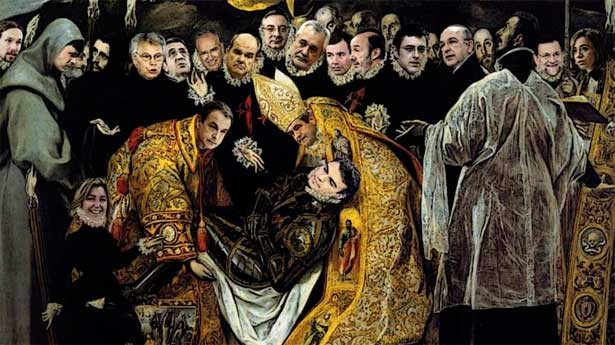 El entierro del Conde de Ferraz (Ilustración de Rafael Herrera Espinosa)