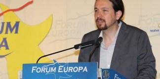 Pablo Iglesias en el acto de Nueva Economía Fórum