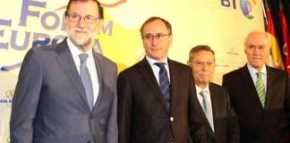 Mariano Rajoy y Alfonso Alonso en el Fórum Europa   FOTO: Nueva Economía Fórum
