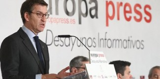 Alberto Núñez Feijóo en los Desayunos de Europa Press
