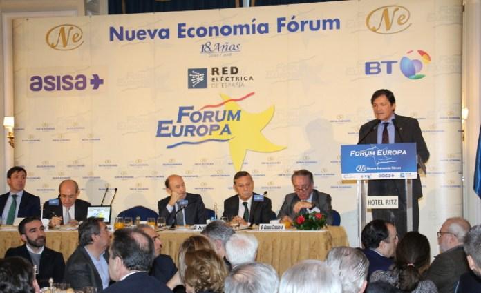 El presidente del principado de Asturias, Javier Fernández, en el Fórum Europa