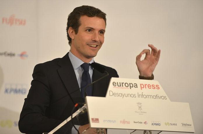 Desayuno Europa-Press. Lunes 1 de abril. Pablo Casado