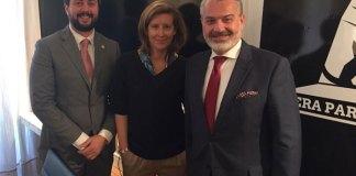 Milton Cohen-Henríquez Sasso (embajador de Panamá), Marta Lamas (Moderadora de Hera&Partners) y Felipe Muñoz (Coordinador de negocios Internacionales) [Dcha. a Izda.]