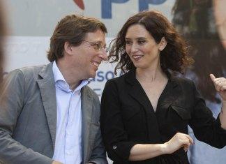 José Luis Martínez Almeida con Isabel Ayuso