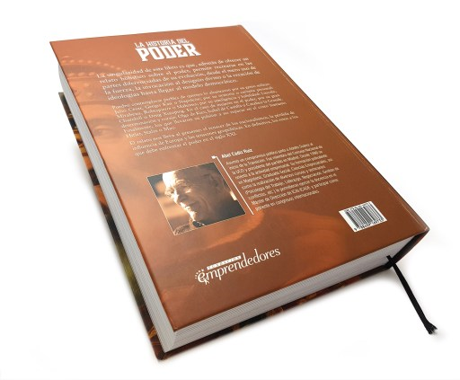 """Contraportada del libro """"La historia del Poder"""" de Abel Cádiz"""