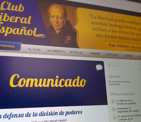 Comunicado del Club Liberal Español