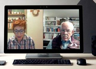 Abel Cádiz y Elisa Nuez en videoconferencia de AUDEMA