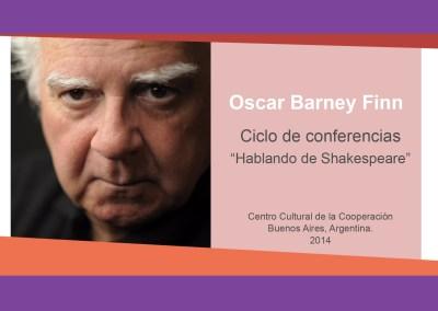 "Oscar Barney Finn – ""Hablando de Shakespeare"""