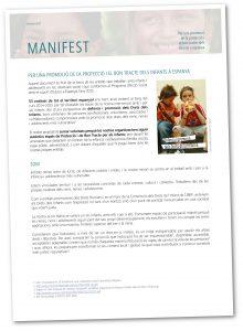 manifiest Per una promocio de la proteccio i el bon trace de la infancia