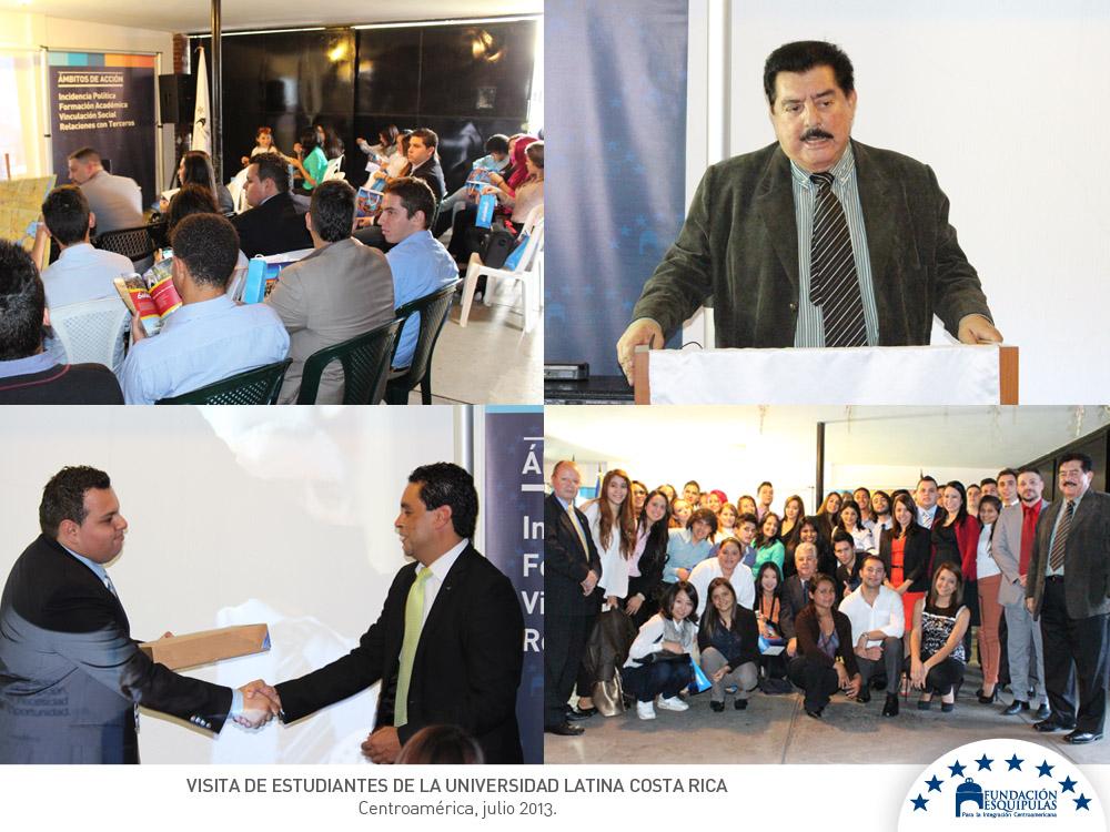 Visita de estudiantes de la Universidad Latina de Costa Rica