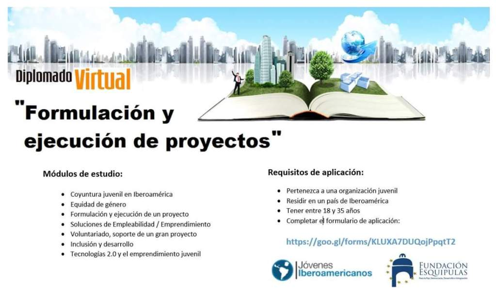 """Convocatoria diplomado virtual: """"Formulación y Ejecución de de Proyectos"""""""