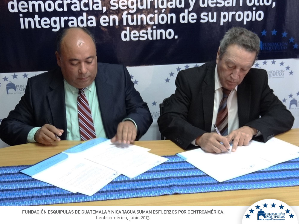 Fundación Esquipulas de Guatemala y Nicaragua suman esfuerzos por Centroamérica