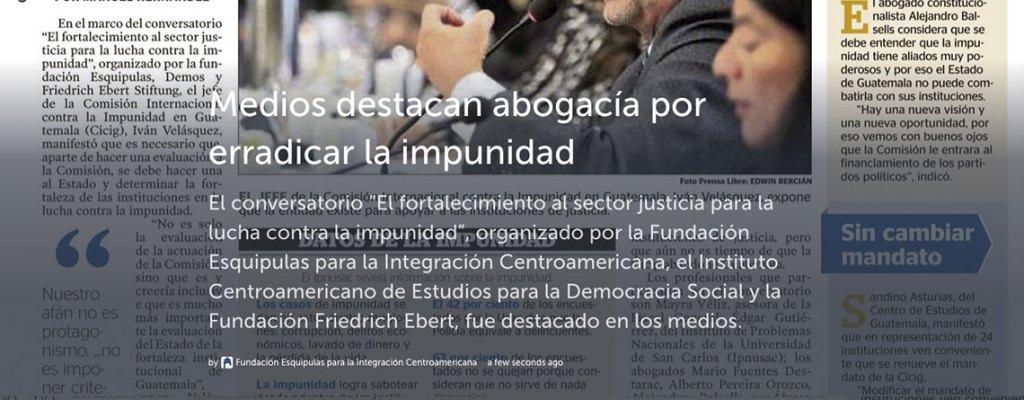 """Medios destacan el conversatorio sobre la """"Lucha Contra la Impunidad"""""""