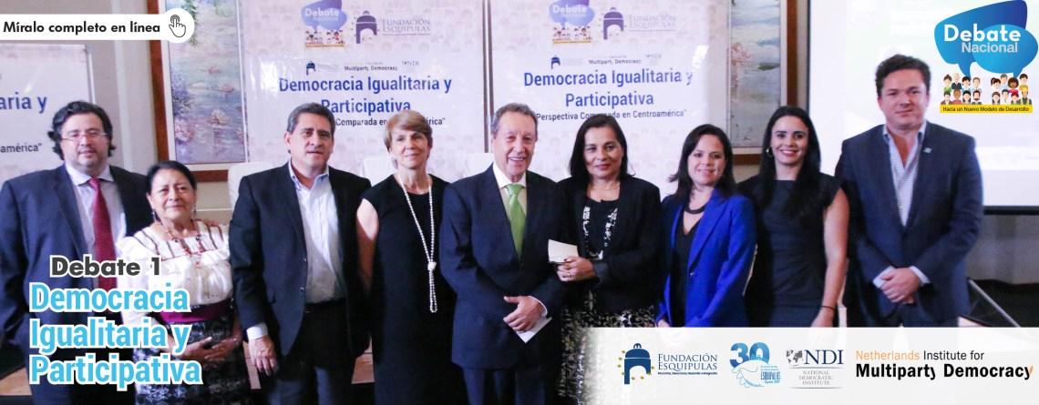 Debate: Democracia Igualitaria y participativa en Guatemala