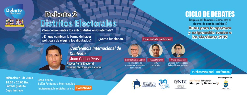 Conferencia/Debate: Distritos Electorales